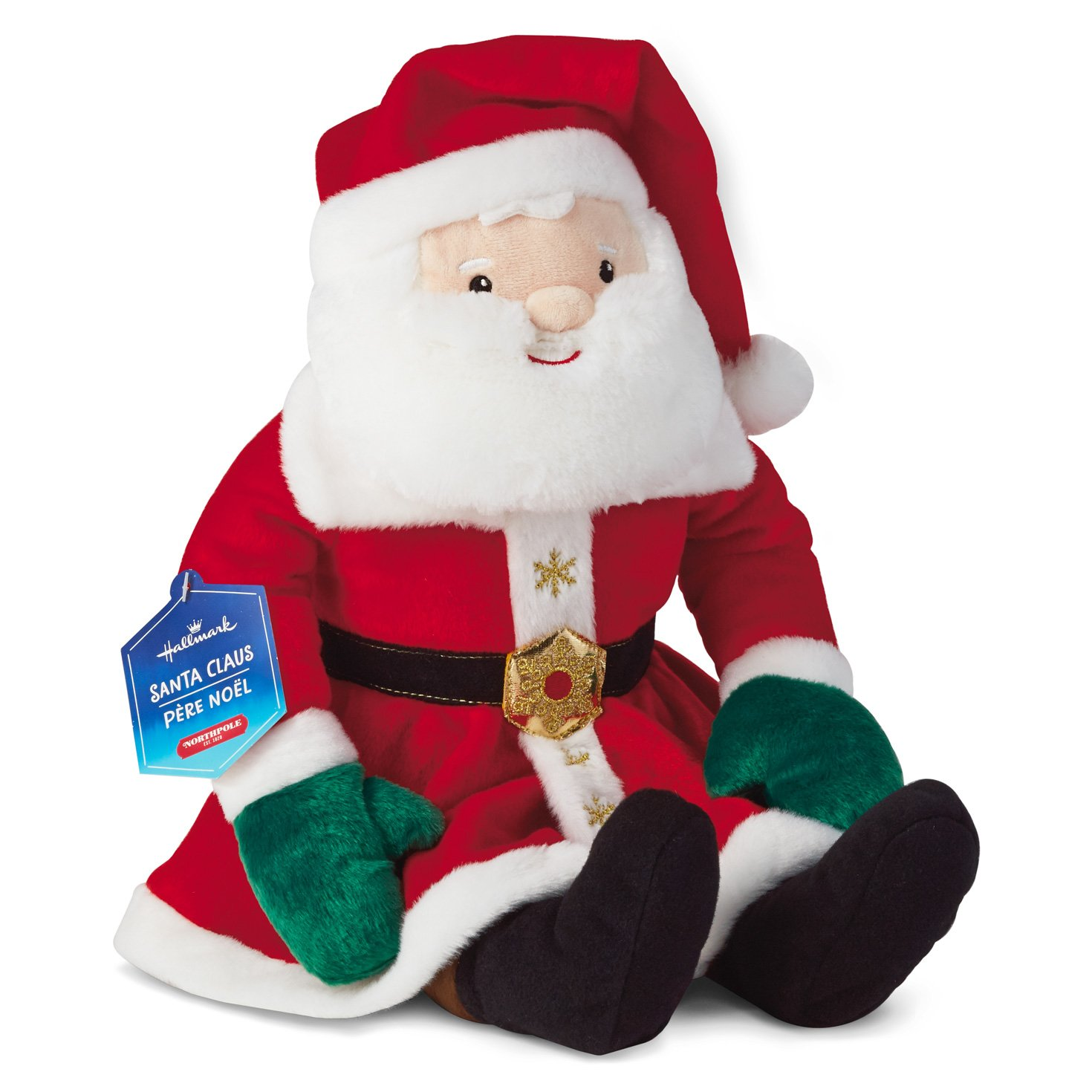 Amazon Com Hallmark North Pole Santa Claus Plush Stuffed Toy Home