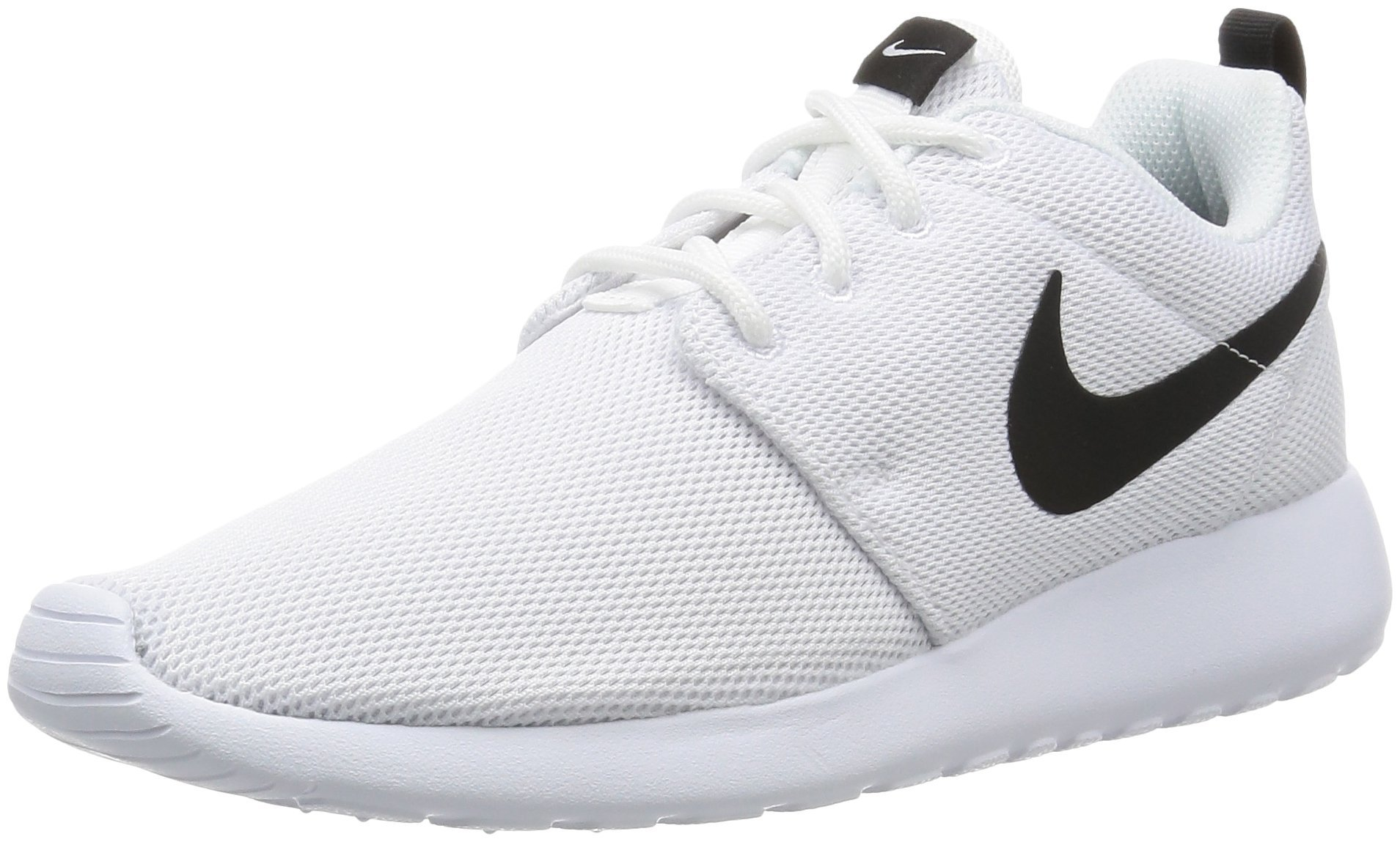 Nike Womens Roshe One Running Shoes (8.5 B(M) US)(White/White/Black)