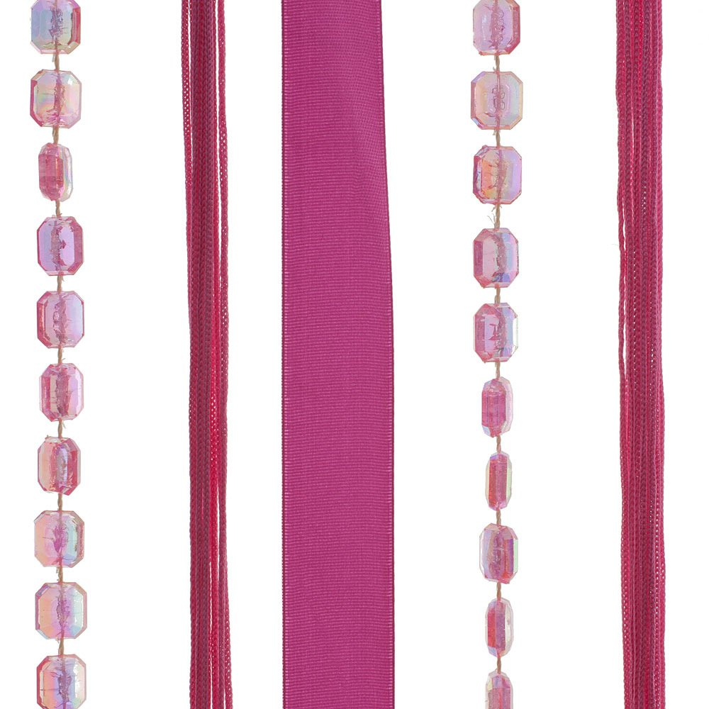 90 x 180 cm HAB /& GUT -DV0284- Rideau de Porte Multicolore Rubans Tissu