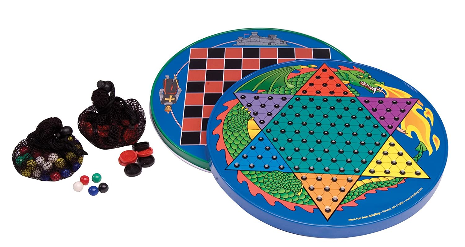 Amazon.com: Tin Chinese Checkers: Toys & Games