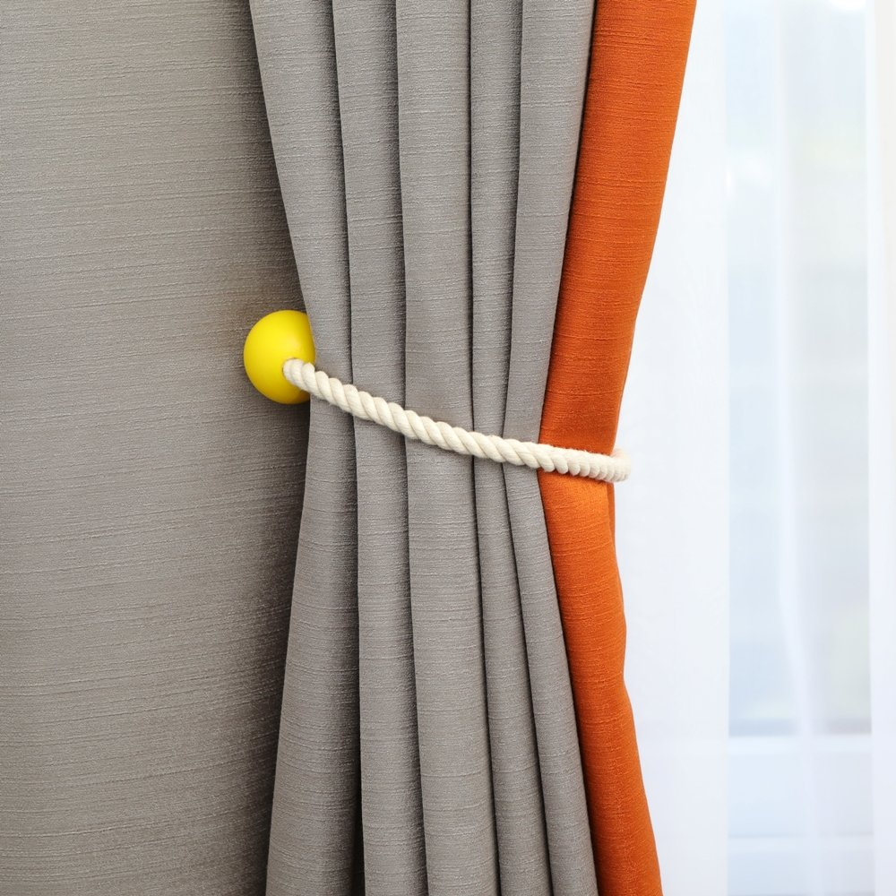 Fabula Life Window Curtain Tiebacks Home//Office Decorative Drape Holders Magnetic Curtian Tiebacks 1 Pair