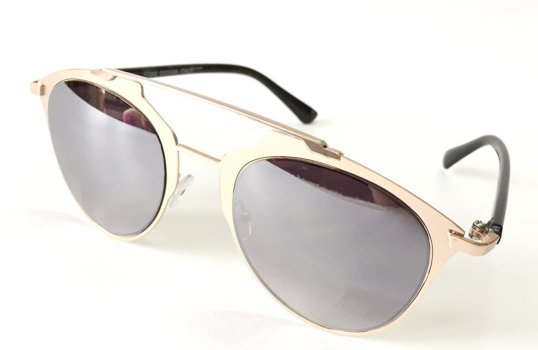 b3e693729cb AKSHAJ Latest Fashion Retro Style RoseGold Black Mirror Unisex Sunglasses  Goggles Shades  Amazon.in  Clothing   Accessories