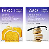 Tazo Dessert Inspired Flavored Tea 2 Flavor Variety Bundle, (1) each: Glazed Lemon Loaf and Vanilla Bean Macaron (15 Count)