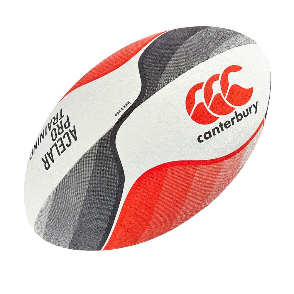 Canterbury Acelar Pro - Pelota de Rugby (Talla 4), Color Rojo ...