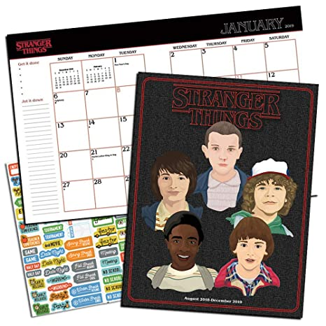 Stranger Things Weekly Planner 2019 Set - Deluxe Stranger Things Weekly Monthly Planner with DateWorks Calendar Stickers (Soft Cover; Office Supplies)