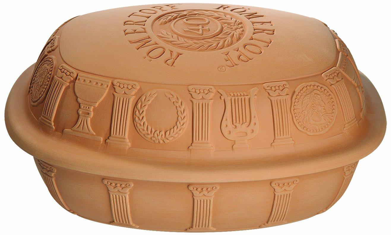 Romertopf by Reston Lloyd 40th Anniversary Series Natural Glazed Clay Baker, Medium