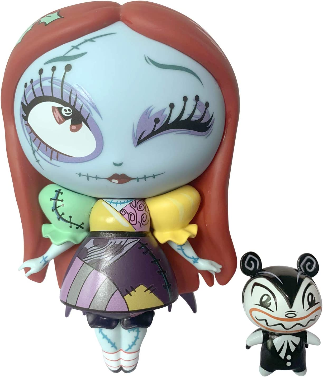 Enesco World of Miss Mindy Nightmare Before Christmas Sally Special Holiday Edition Vinyl Figurine, 7.09 Inch, Multicolor