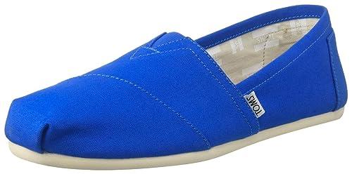 TOMS Canvas Seasonal Classics Alpargata, Zapatillas de Estar por casa para Mujer, Azul (