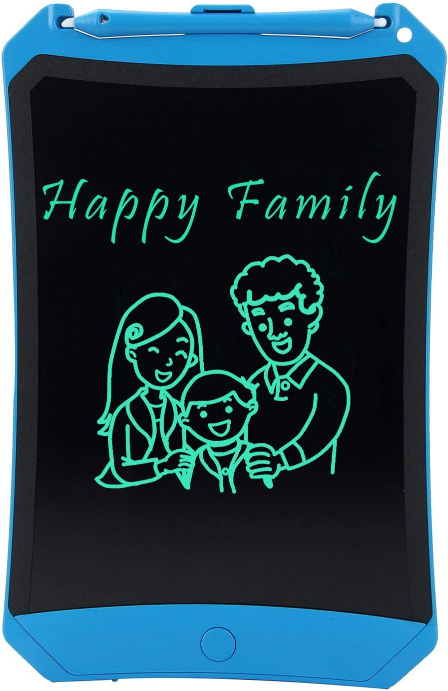 Children Blue Family YSSWEET 12-Inch Flexible LCD Writing Tablet,Repeatedly Erasing and One Button Clear Screen Lock Screen,Suitable for Students White-Collar