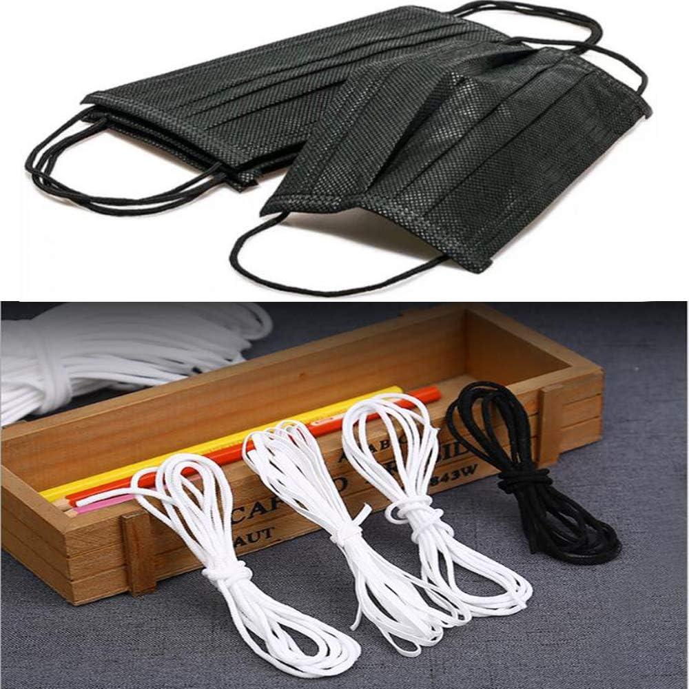 10 M Rouleau Cordon /Élastique Textile Tissu Coton 50 PCS Nez Clip Pont De Protection Bande De Nez DIY Outil Artisanat /À Coudre Blanc