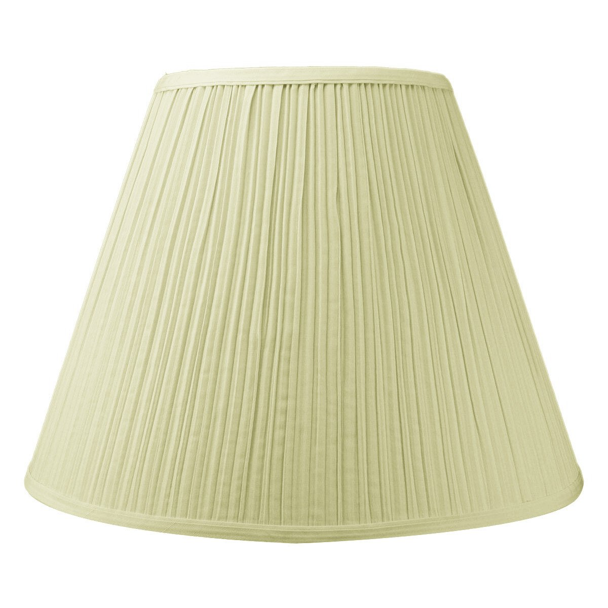 8x16x12 Empire Hardback Lampshade Egg Shell Mushroom Pleat with Brass Spider fitter By Home Concept - Perfect for table lamps and some desk lamps -Medium, Egg Shell