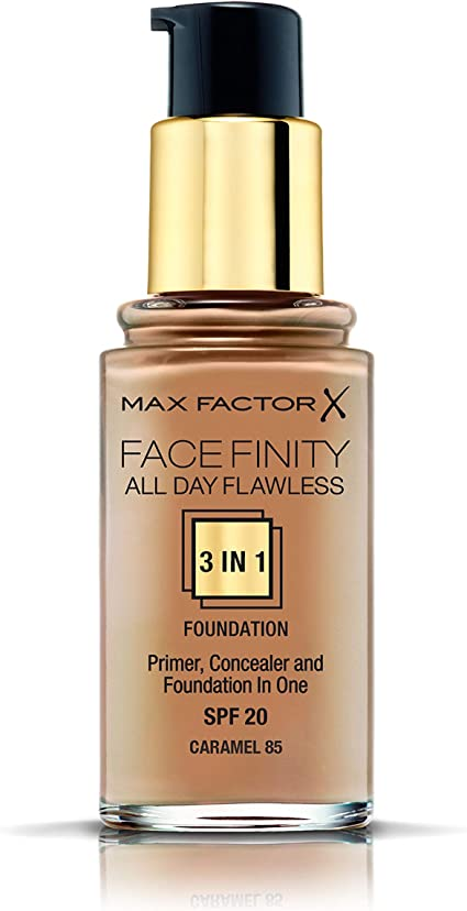 Max Factor Facefinity All Day Flawless 3 In 1 Foundation SPF 20, No. 90 Toffee
