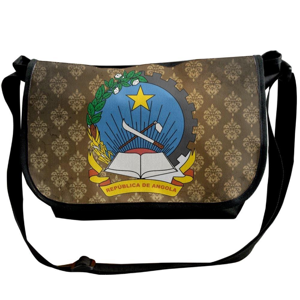 Lov6eoorheeb Unisex Coat Of Arms Of Angola Wide Diagonal Shoulder Bag Adjustable Shoulder Tote Bag Single Shoulder Backpack For Work,School,Daily