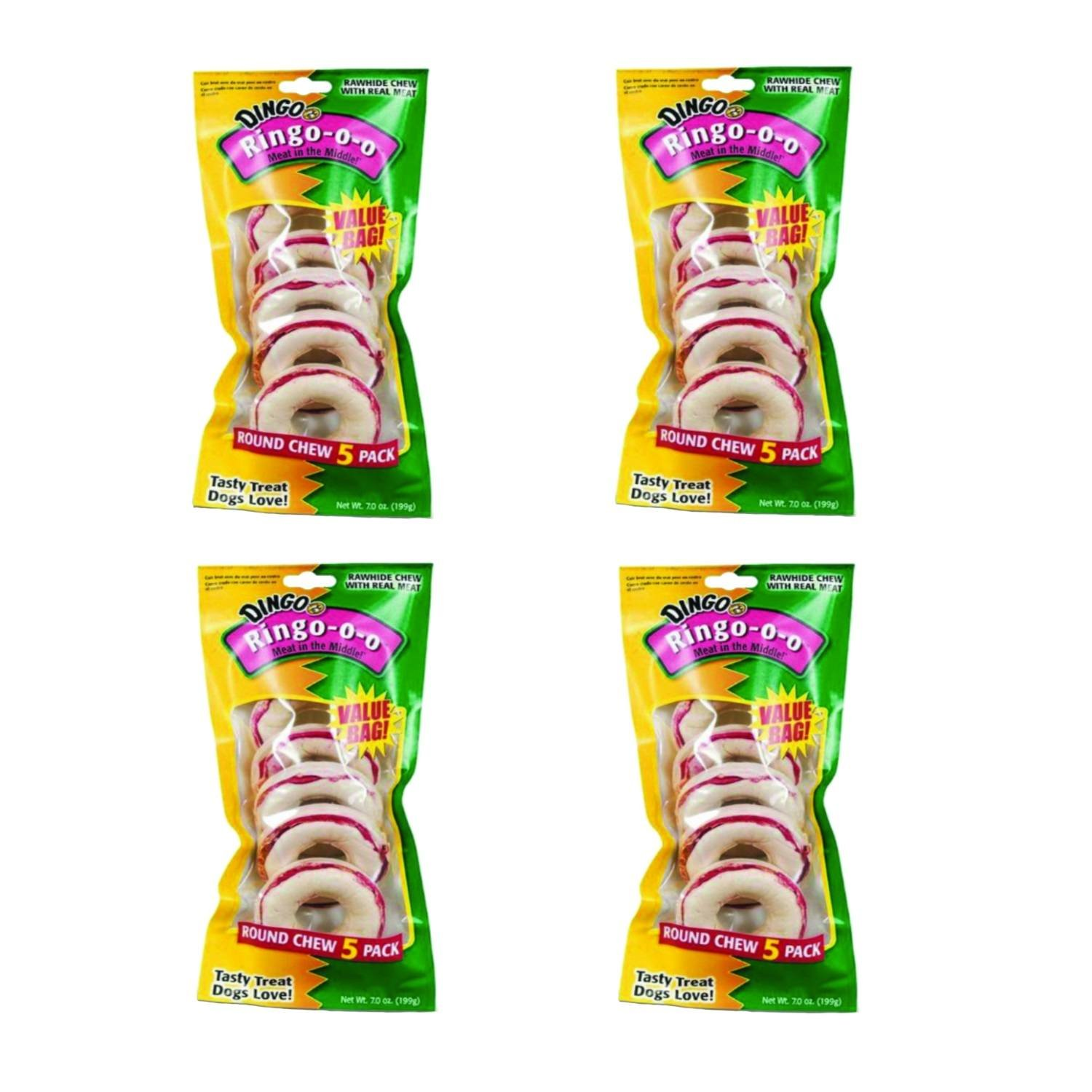 20-Count Dingo Ringo Rawhide Treats (Ringo-o-o), 20-Count