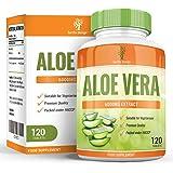 Aloe Vera - Comprimés d'Aloe 6000mg - Complément à Dosage Maximum pour Hommes et Femmes, Recevez le DOUBLE de Capsules - Convient aux Végétariens - 120 Comprimés (2 Mois d'Approvisionnement) de Earths Design