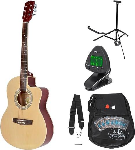 ts-ideen Western - Guitarra acústica completa con accesorios ...