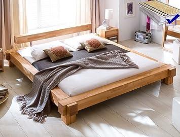 De madera maciza de cama de madera de Vitus 180 x 200 + ...