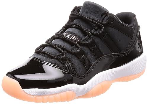 sports shoes 7b488 74feb Jordan Kid's Air 11 Retro Low GG, Black/Bleached Coral-White