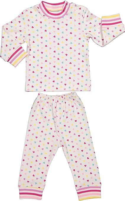 Baby Zweiteiliger Schlafanzug 3-12 Monate 100/% Baumwolle Jungen M/ädchen Pyjamas Set Langarm Nachtw/äsche