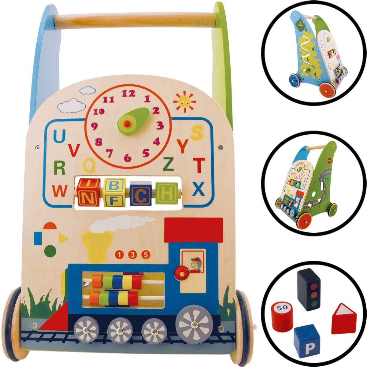 Baby 13016 - /Andador de madera (con muchos posibilidades de ...