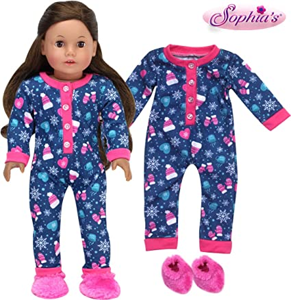 """My Life As Pink Plaid  PJ/'s Pajamas Doll Clothes 18/"""" Inch Outfits Sleepwear"""