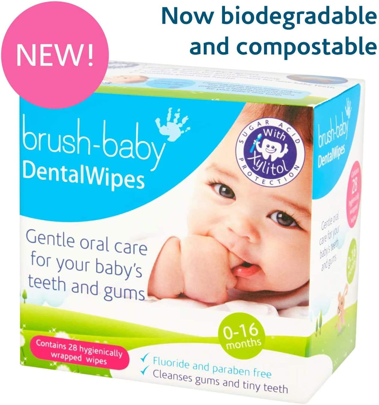 Brush-Baby DentalWipes for Babies | Stage 1 Birth - First Teeth | Suitable  from 0-16 Months | Soft Wipes to Gently Clean Your Baby's Mouth, Gums and  Tongue | 1 Pack of
