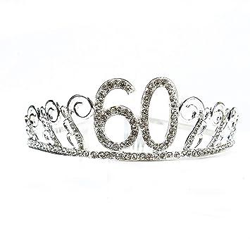 Amazon.com: AQUEENLY - Tiara para fiesta de 60 cumpleaños ...