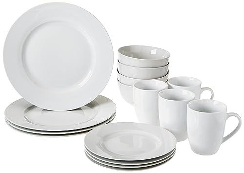 AmazonBasics 16-Piece Dinnerware Set Service for 4  sc 1 st  Amazon.com & Amazon Best Sellers: Best Dinnerware Sets