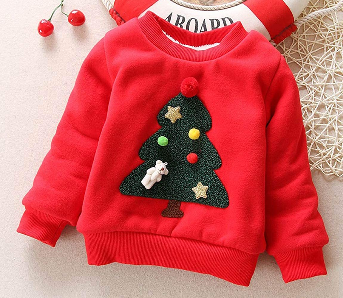 Happy Cherry Baby Boys Girls Christmas Sweaters Xmas Gift Clothes Long Sleeved 100/% Cotton Pullover Sweatshirt