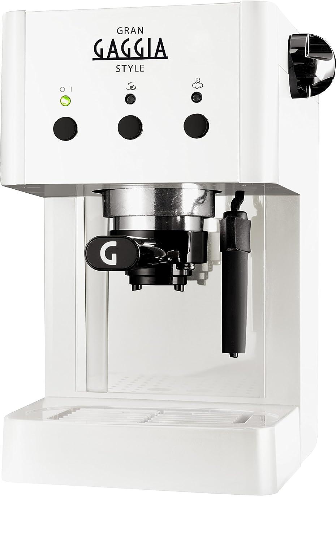 Gaggia RI8323/11 Independiente Manual Máquina espresso 1L Color blanco - Cafetera (Independiente, Máquina espresso, Color blanco, De plástico, ...