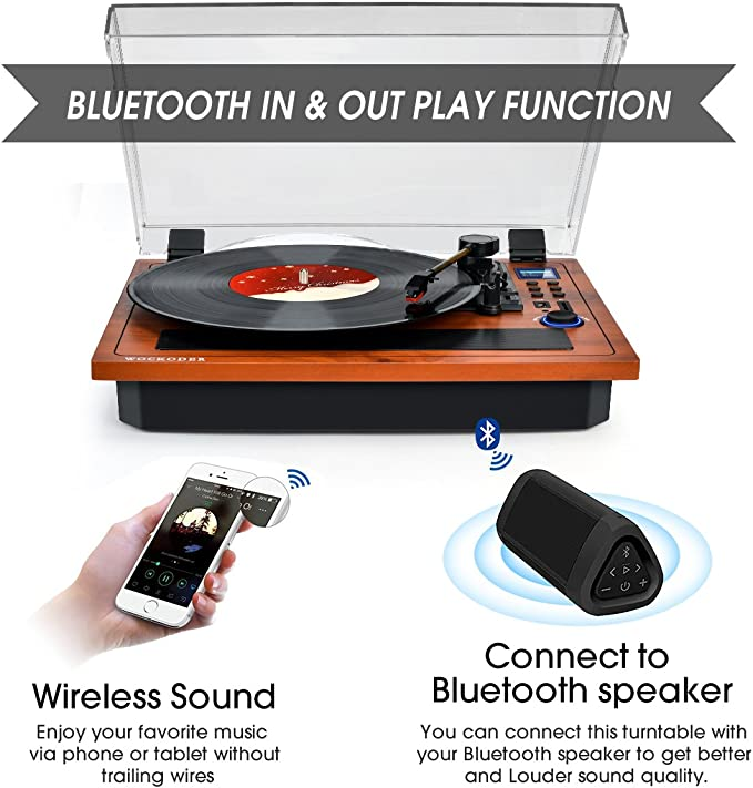 Amazon.com: Turntable - Reproductor de vinilo, compatible ...