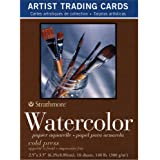 Strathmore 400 Series Watercolor Artist Trading Cards, Cold Press Surface, 10 Sheets