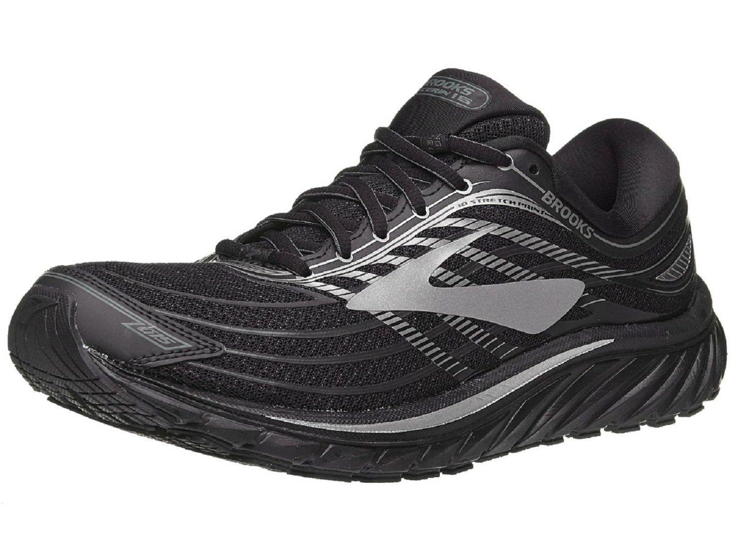 Brooks Mens Glycerin 15 Neutral Maximum Cushion Running Shoe B06XPW3VGG 14 D(M) US|Black/Silver/Grey
