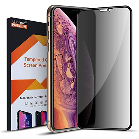 """Uxinuo Compatible With I Phone Xr Privacy Screen Protector, Primium Anti Spy Tempered Glass Screen Protector Compatible With I Phone Xr 6.1"""" 2018 by Uxinuo"""