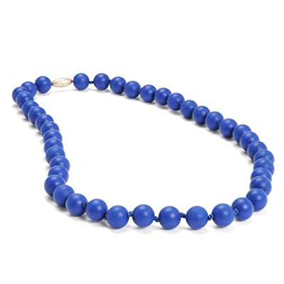 Chewbeads Jane Teething Necklace (Cobalt) - Original Fashionable Infant Teething Jewelry for Mom. 100% Medical Grade Silicone Safe for Teething Babies and Toddlers. BPA Free : Baby Teether Toys : Baby