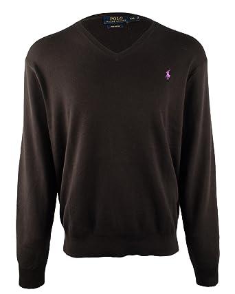Polo Ralph Lauren Men's Pima Cotton V Neck Long Sleeve Sweater-PB-M
