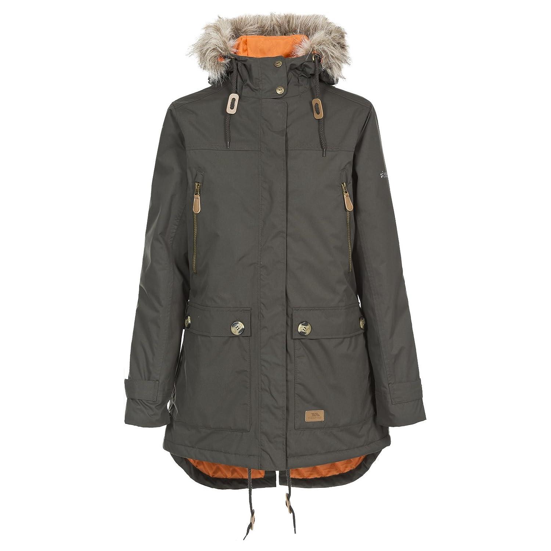 Trespass Clea, Wasserdichte Jacke mit Einrollbarer Kapuze für Damen