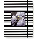 "Kate Spade New York Medium 12-Month Annual Hardcover Planner with Daily, Weekly, Monthly Spreads for January 2019 – Dec 2019, 7.75"" x 6.13"", Black Stripe"