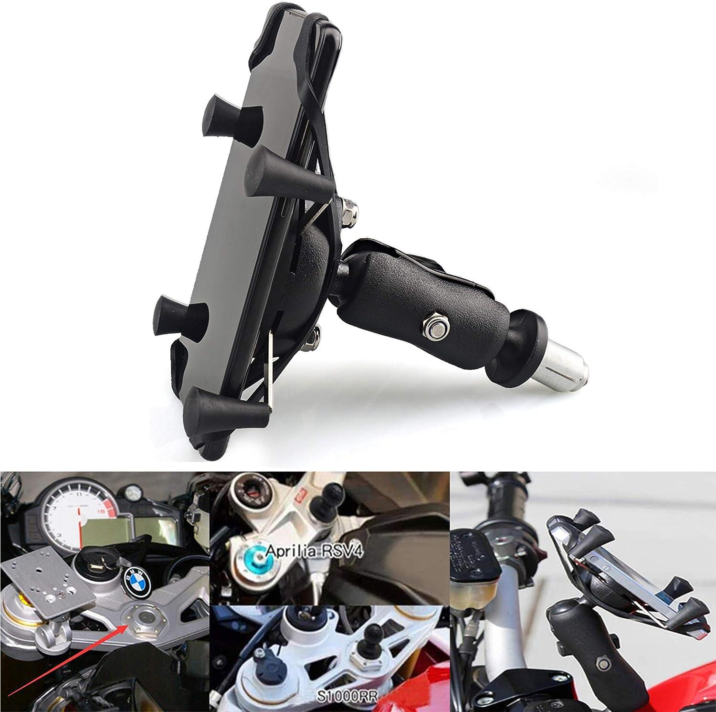 Soporte para teléfono móvil de Motocicleta para teléfono Inteligente de 4 '' - 7 '' Se Adapta a Todo Autorcycle con Agujeros