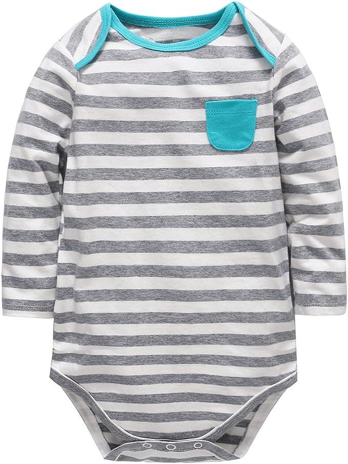 Bebé Body de Manga Larga, Pijama de algodón Mono Niñas Niños ...