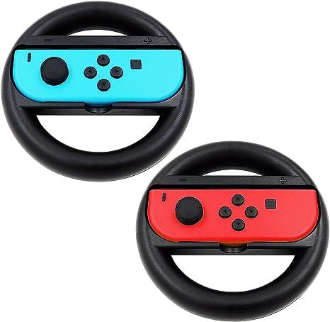 KEESIN Joy-Con Steering Wheel Compatible con Nintendo Switch Controller 2 Pack Remote Dock Wheel Accesorio (Negro): Amazon.es: Videojuegos