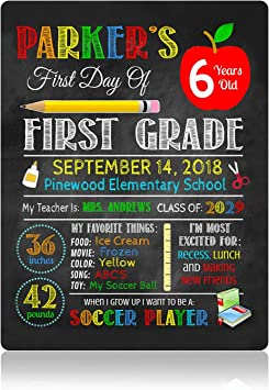 Printable Back to School Sign Chalkboard Sign 1st Day of School Sign Digital Or Printed ANY GRADE EDITABLE First Day of School Sign