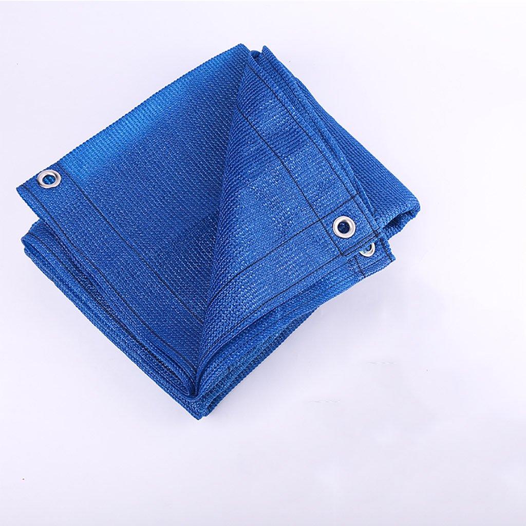 QX pengbu IAIZI Sonnenschutz Net Shading Netting Verschlüsselung Wärmedämmung Polyethylen Anti-UV-Pergola Cover einfach zu Falten, blau, Multi-Größe Optional