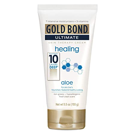 Gold Bond Ultimate Healing Skin Therapy Cream, Aloe 5.50 oz Pack of 4