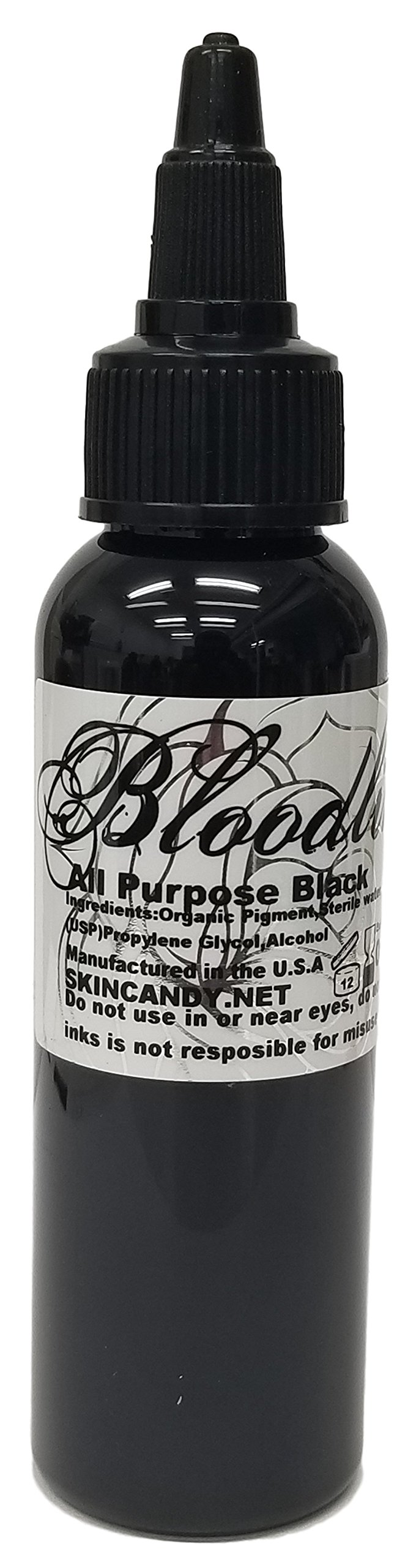 Bloodline Tattoo Ink - All Purpose Black - 2 ounce