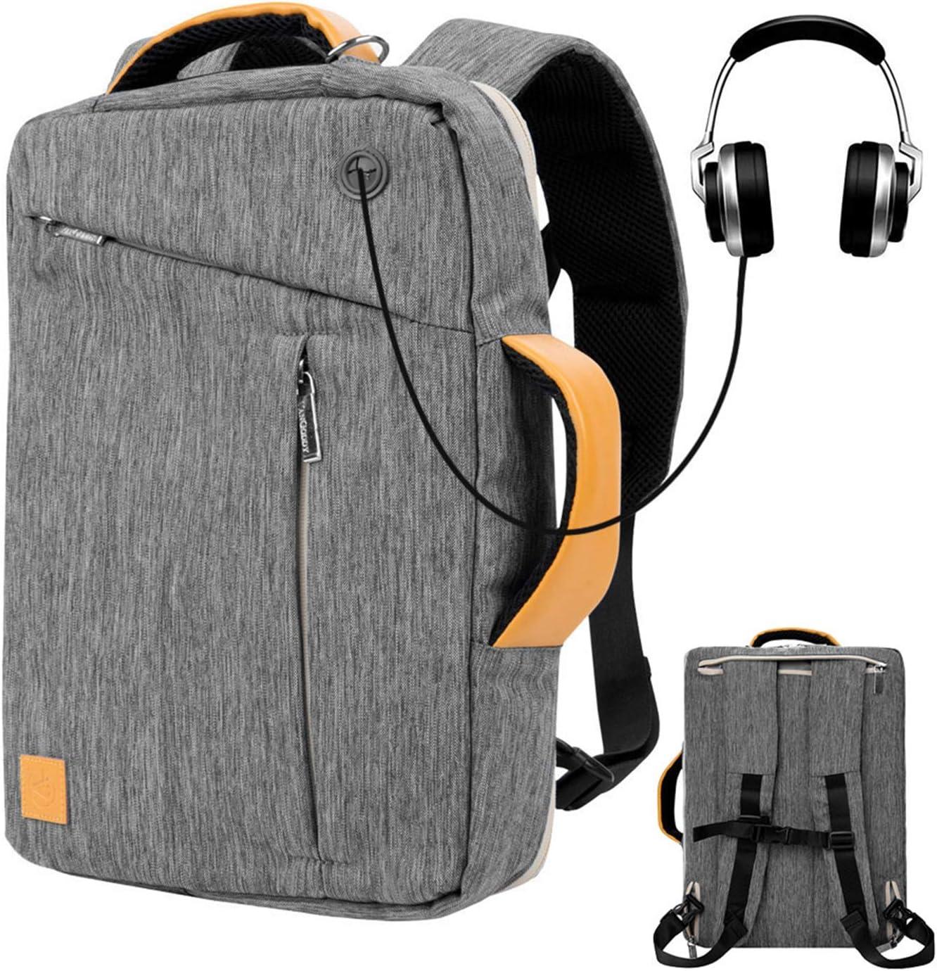 11.6 12.5 inch Tablet Sleeve Case Convertible Laptop Backpack Shoulder Bag for Men Women Travel School Work fits Acer Asus HP Lenovo Samsung Chromebook