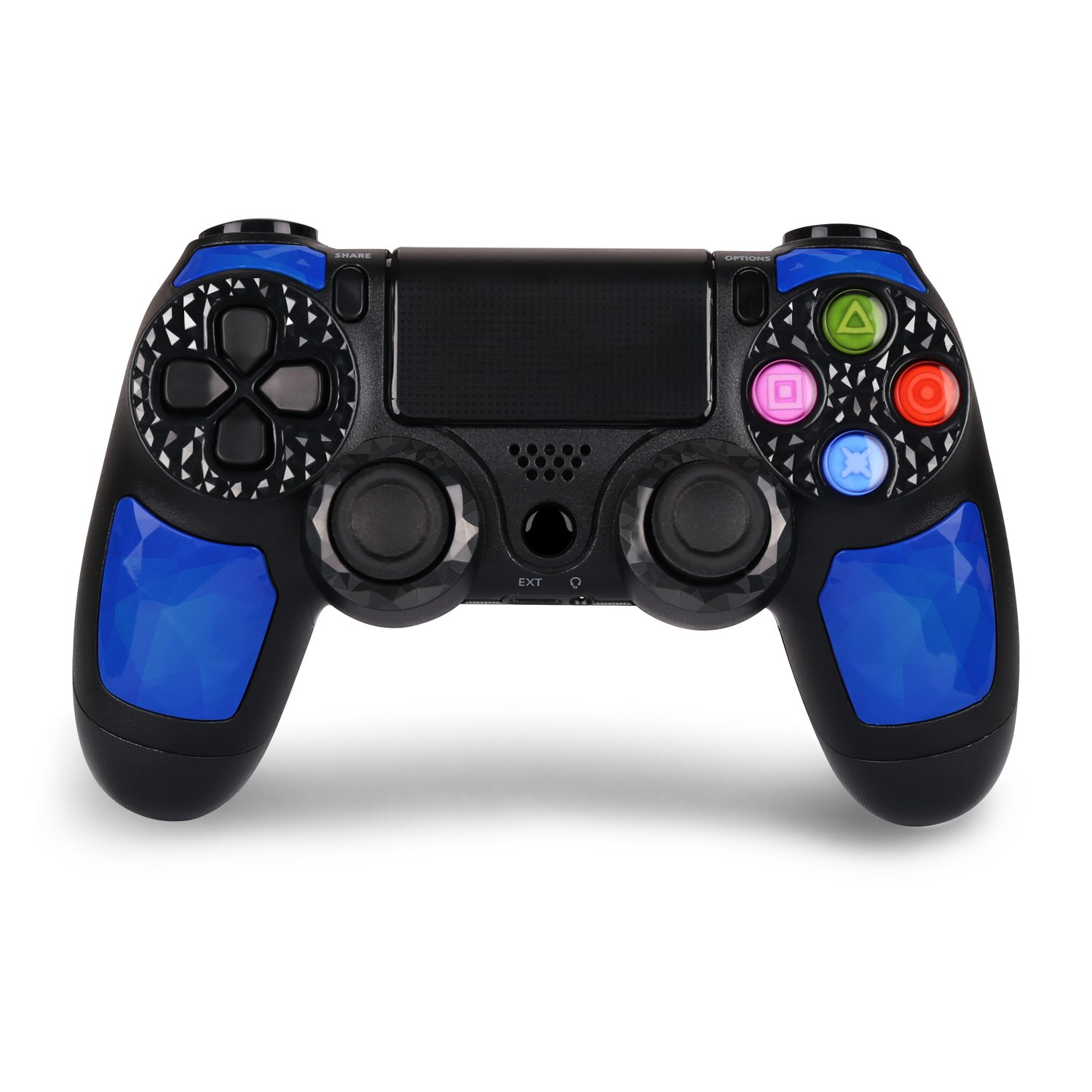 PS4 Controller - Dual Shock 4 Wireless Controller for PlayStation 4 – Joystick with Sixaxis, Bluetooth, Super Power, Micro USB, Multi-touch Clickable Touch Pad- AUGEX Dipsey Diamond