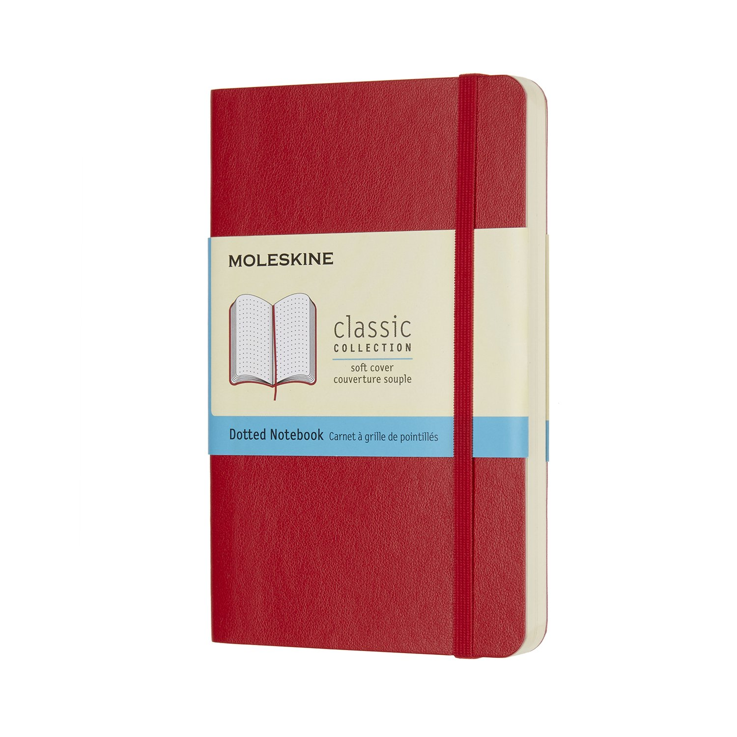 Moleskine Classic Notebook Pocket Dot Scarlet Red Softcover.