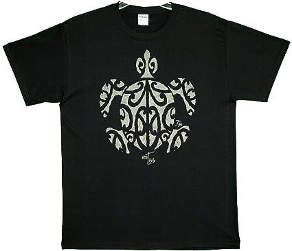 RJC Kauai Imprint Tatau Adhesivo Honu Franela de algodón Camiseta ...