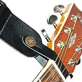 Acoustic Guitar Leather Strap Hook (Black)